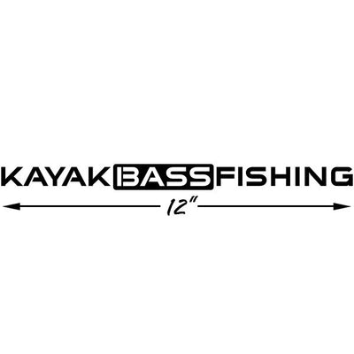 "KAYAK BASS FISHING Vinyl 12"" Decal"