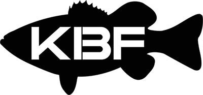 "KBF 14"" Largemouth Bass Vinyl Decal"