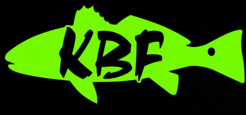 KBF redfish - red drum lime green vinyl decal