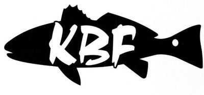 KBF redfish - red drum black vinyl decal