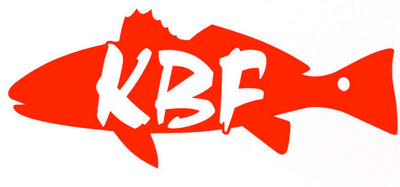KBF redfish - red drum red vinyl decal