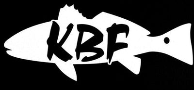 KBF redfish - red drum white vinyl decal