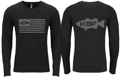 KBF Flag Tri-blend Long Sleeve Tee