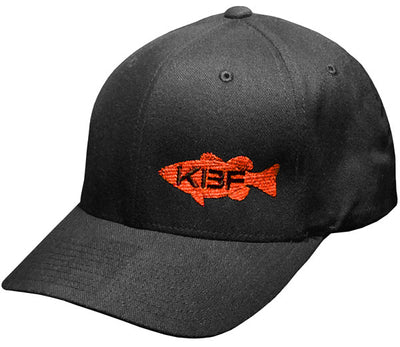 Black FlexFit Hat with Offset KBF Bass Logo