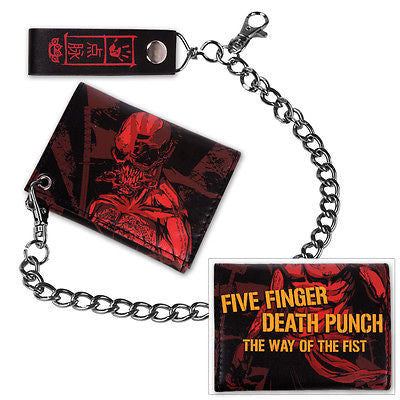 FIVE FINGER DEATH PUNCH (Red Ninja) Men's Chained Wallet