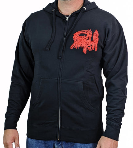 DEATH (Scream Bloody Gore) Men's Zip-Up Hoodie