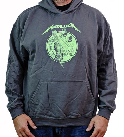 METALLICA (Justice Neon Charcoal) Men's Pull-Over Hoodie