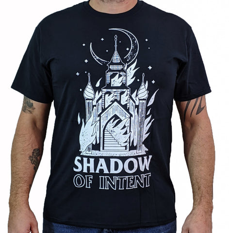 SHADOW OF INTENT (Burning Church) Mens T-Shirt