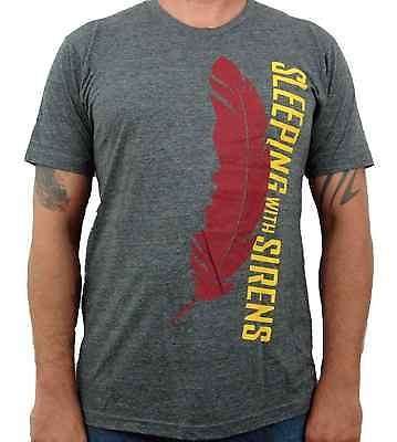 SLEEPING WITH SIRENS (feather charcoal) Men's Slim Fit T-Shirt