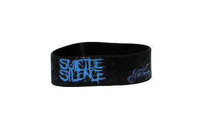 SUICIDE SILENCE (logo) Die-cut Rubber Wristband