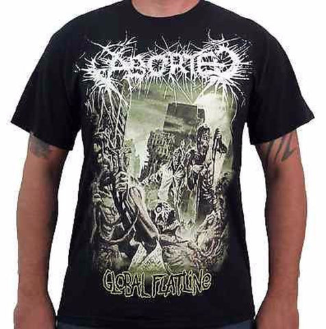 ABORTED (Global Flatline) Men's Album Cover T-Shirt