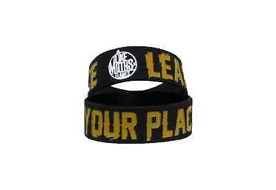 LIKE MOTHS TO FLAMES (Learn Your Place) Die-Cut Rubber Braclet