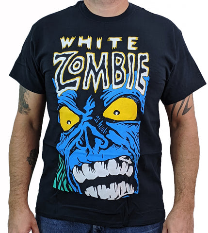WHITE ZOMBIE (Blue Monster) Mens T-Shirt