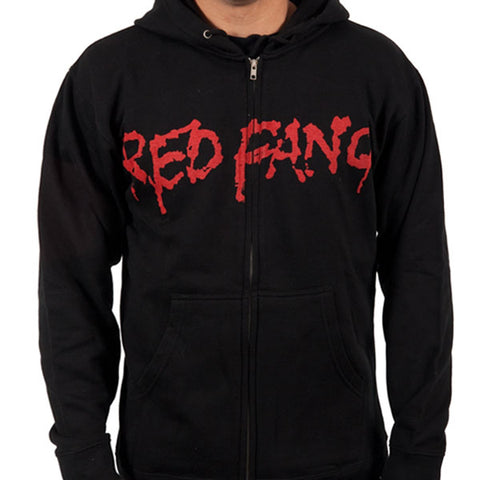 RED FANG (Fang) Zip-Up Hooded Sweatshirt