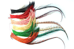 Pheasant feather pompom stickup, 5625.