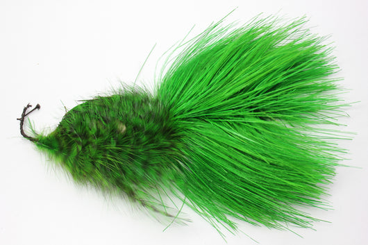 Ostrich/Rhea hackle feather pompom, 5018. Green. Last one.