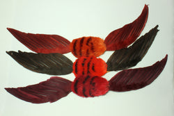 Feather double wing bandeau trims, 3888.