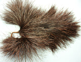 "Ostrich/Rhea feather pompom, ""vulture"" pompom, huge. Chocolate. 5535. Last one."