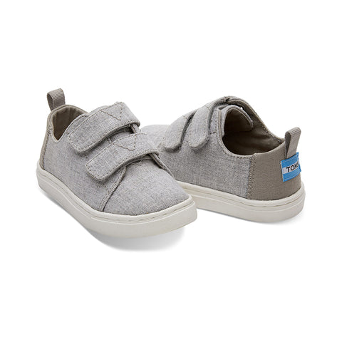 Drizzle Grey Slub Chambray Tiny TOMS Lenny Sneakers