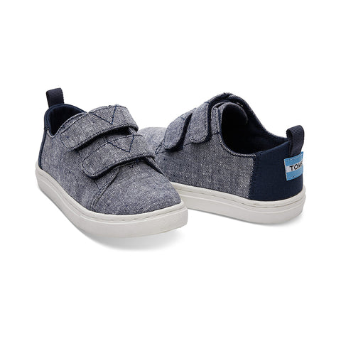 Navy Slub Chambray Tiny TOMS Lenny Sneakers