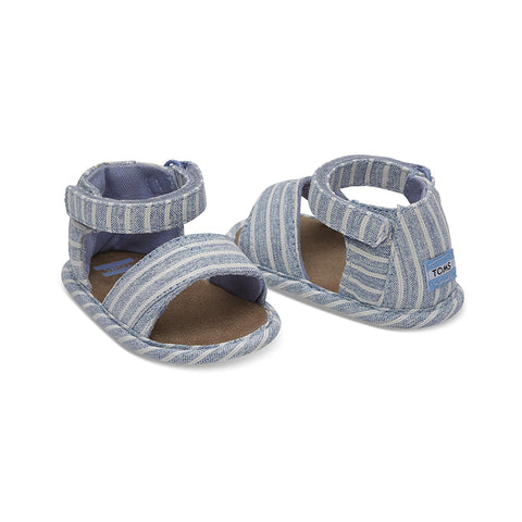 Sky Washed Stripe Tiny TOMS Shiloh Sandals