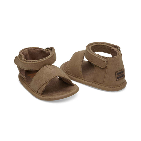 Toffee Synthetic Suede Tiny TOMS Shiloh Sandals