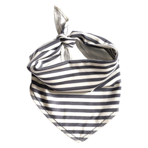 Grey Stripe Basic Bandana Bib