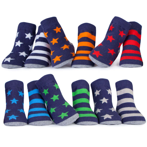 Stars & Stripes Baby Socks Set of 6