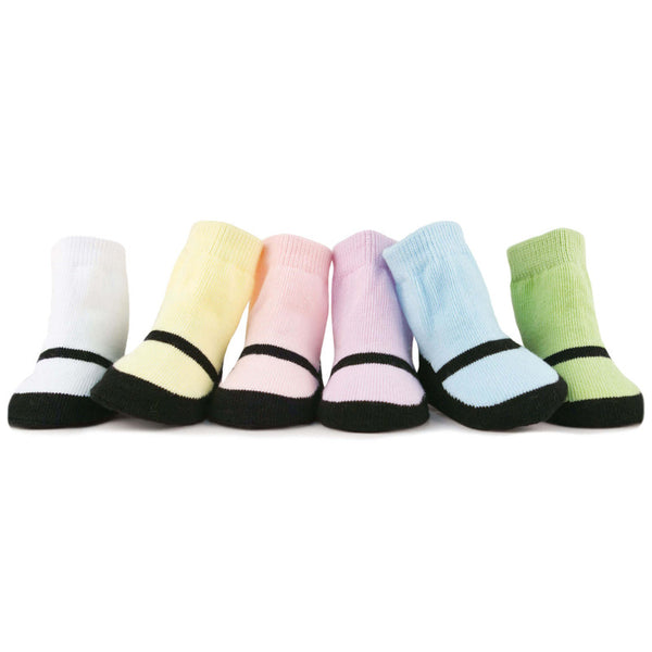 Maryjane Pastel Baby Socks Set of 6