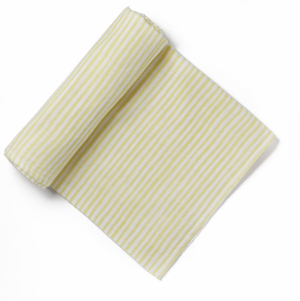 Yellow Stripe Swaddle Blanket