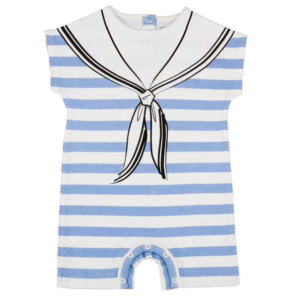 Blue Heron Sailor Romper