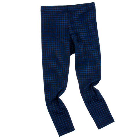 Grid Pants - Dark Navy