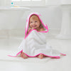 Fluro Pink Hooded Towel & Washcloth Set