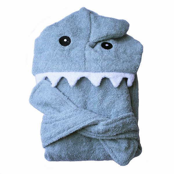 Blue Shark Hooded Bath Robe