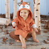 Fox Hooded Bath Robe
