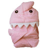 Pink Shark Hooded Bath Robe