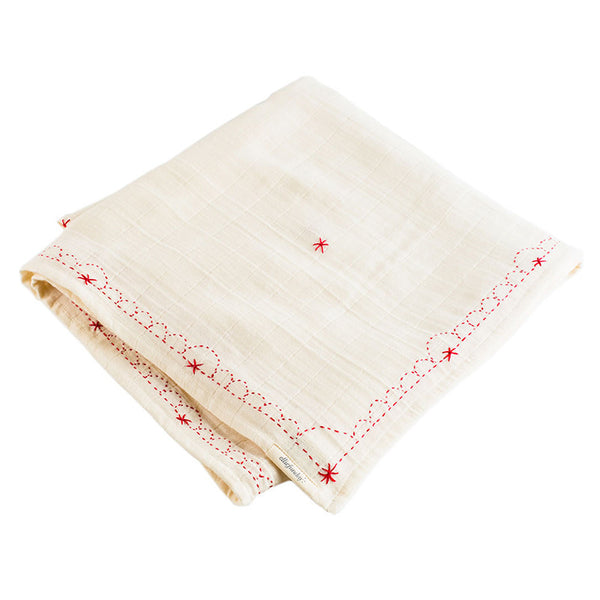 Cherry Red Organic Goddess Swaddle