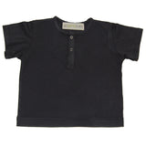 Organic Cotton Jersey Snap Henley