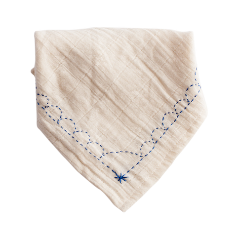 Light Blue Jean Organic Bandana Bib