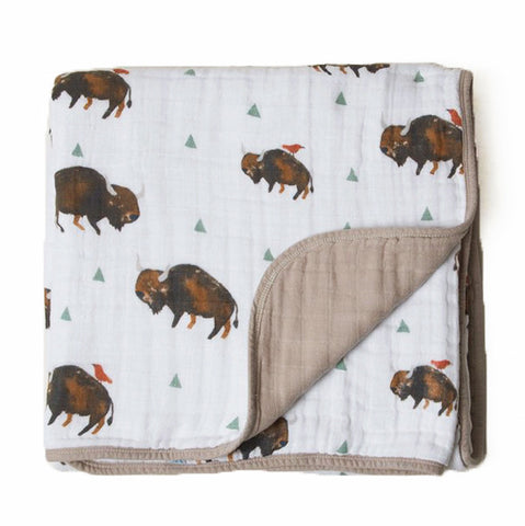 Bison Cotton Muslin Quilt
