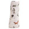 Forest Friends Cotton Swaddle