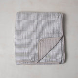 Grey Stripe Cotton Muslin Quilt