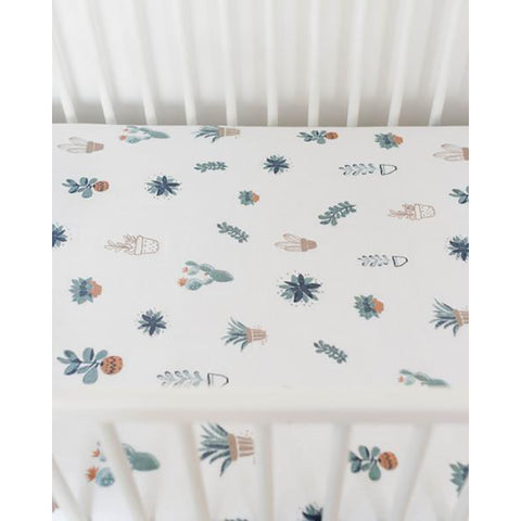 Prickle Pots Cotton Muslin Crib Sheet