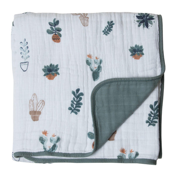 Prickle Pots Cotton Muslin Quilt
