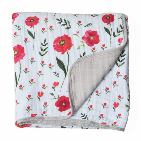 Summer Poppy Cotton Muslin Quilt