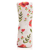 Summer Poppy Cotton Swaddle