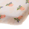 Watercolor Rose Cotton Muslin Crib Sheet