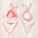 Watercolor Rose Bandana Bib 2 Pack