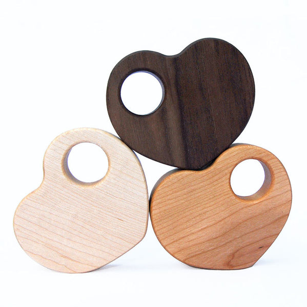 Heart Wood Rattle