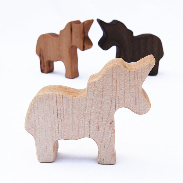 Unicorn Wood Rattle